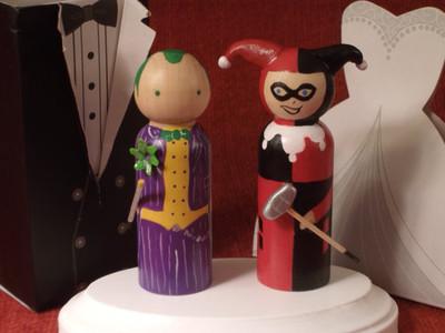 Свадьба в стиле Джокера и Харли Квин, для поклонников данных антигероев