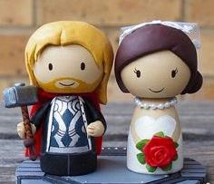 figurki-na-svadbu-tor Свадьба в стиле супергероя Тора, для любителей данного персонажа