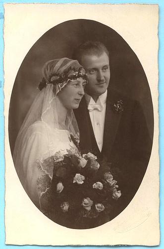 Старинные свадебные фото – красота застывшая на бумаге