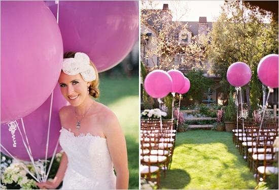 Гигантские воздушные шары на свадьбу