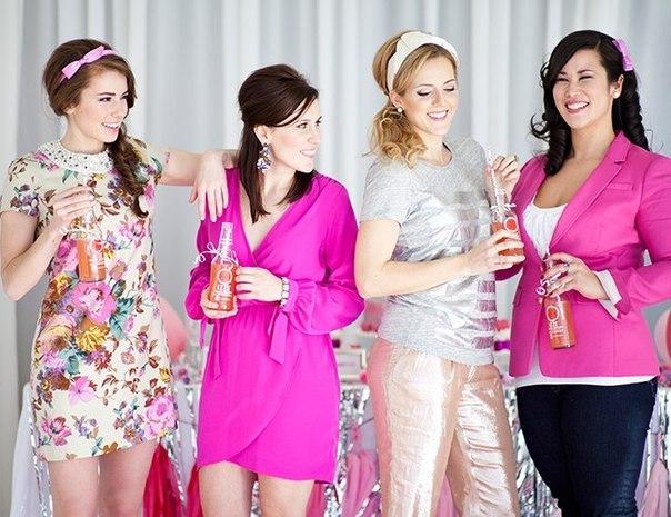 Идея для гламурного  девичника для стильных невест