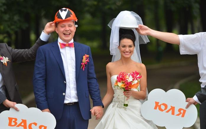 """ideya-dlya-fotosessii-strojka Свадьба в стиле """"Стройки"""" для веселых и необычных пар"""