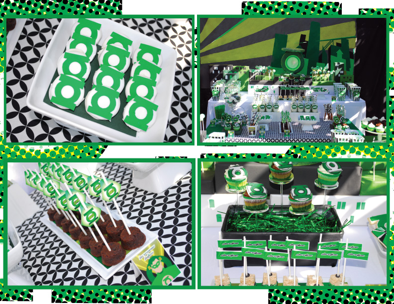 Яркая и необычная свадьба в стиле супергероя Зеленый фонарь