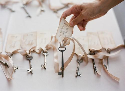 10 идей как использовать ключи в декоре свадьбы