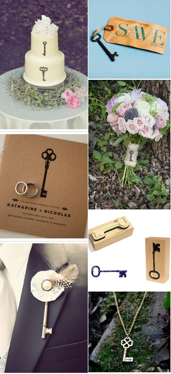 klyuch3 10 идей как использовать ключи в декоре свадьбы