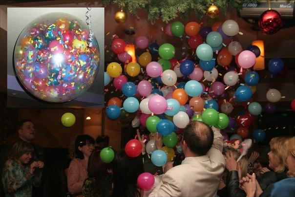 konfeti-iz-sharov-na-svadbu Конфетти из свадебных шариков