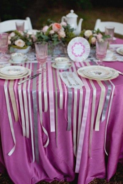 Как украсить свадьбу лентами-Украшаем зал!