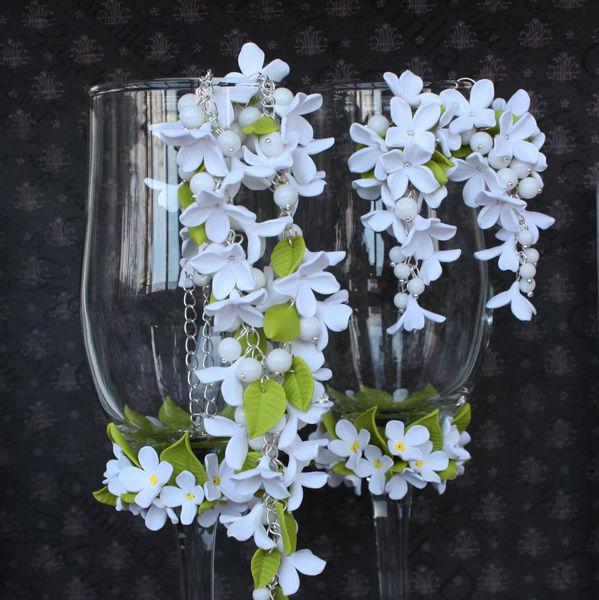 nabor-iz-gliny Свадебные серьги из полимерной глины креативно, стильно и красиво