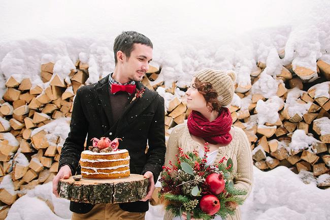 otkrytyj-tort-baranki Зимняя свадьба в русском народном стиле