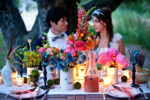 outdoor-al-fresco-california-bohemian-wedding-ideas Свадебные тренды 2014 года