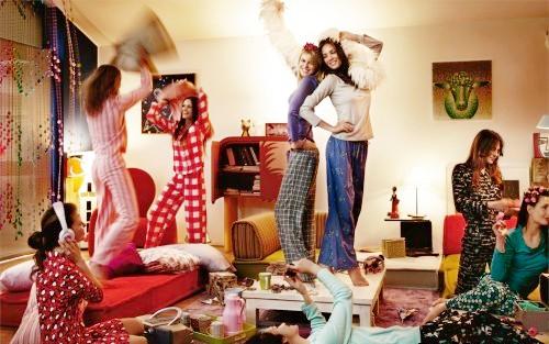 Девичник в стиле пижамной вечеринки