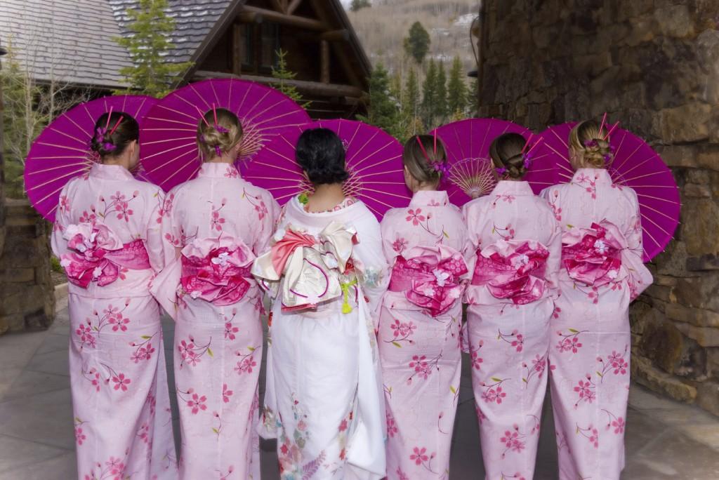 podruzhki-nevesty Свадьба с японской направленностью и мотивами