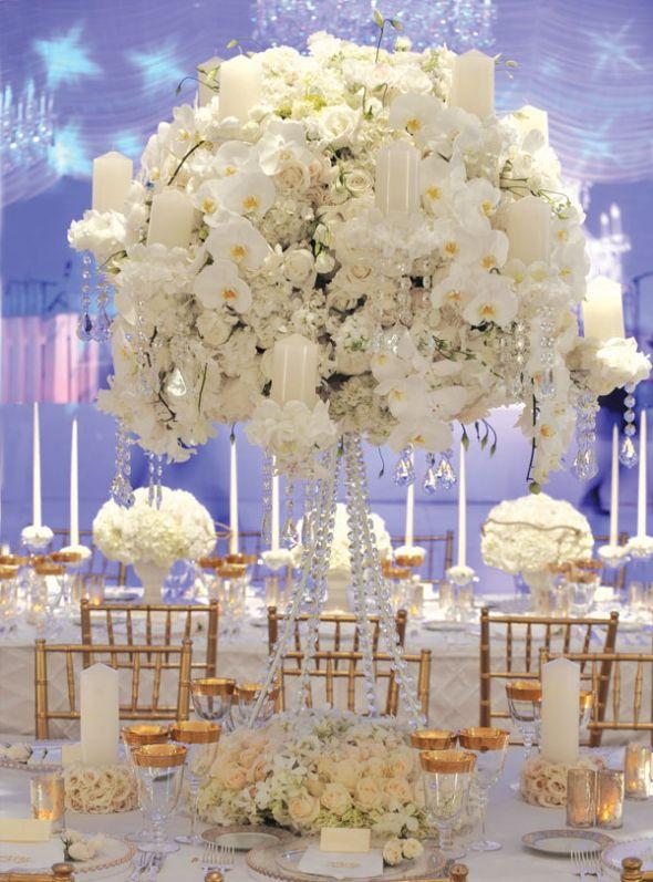 Декор свадьбы в белом цвете