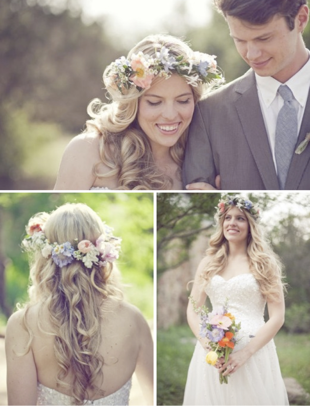 Цветочный венок для невесты