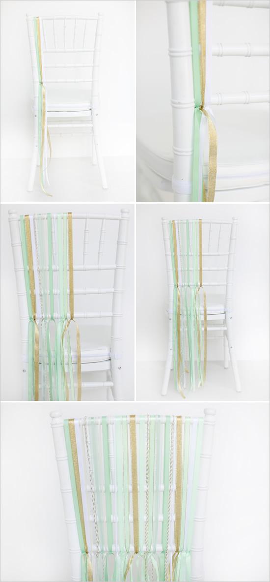 stulya10 Мастер-класс. Декор стульев лентами.