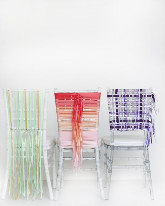 stulya13 Мастер-класс. Декор стульев лентами.