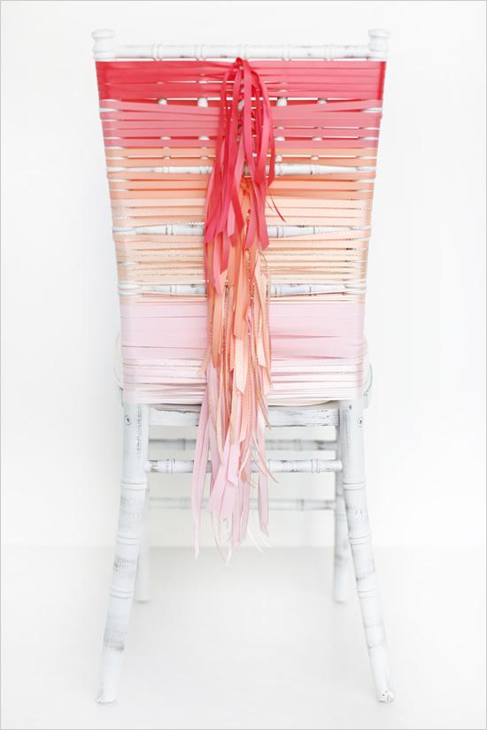 stulya4 Мастер-класс. Декор стульев лентами.