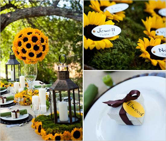 sunflowerweddingdecor Свадьба в стиле «Подсолнух»