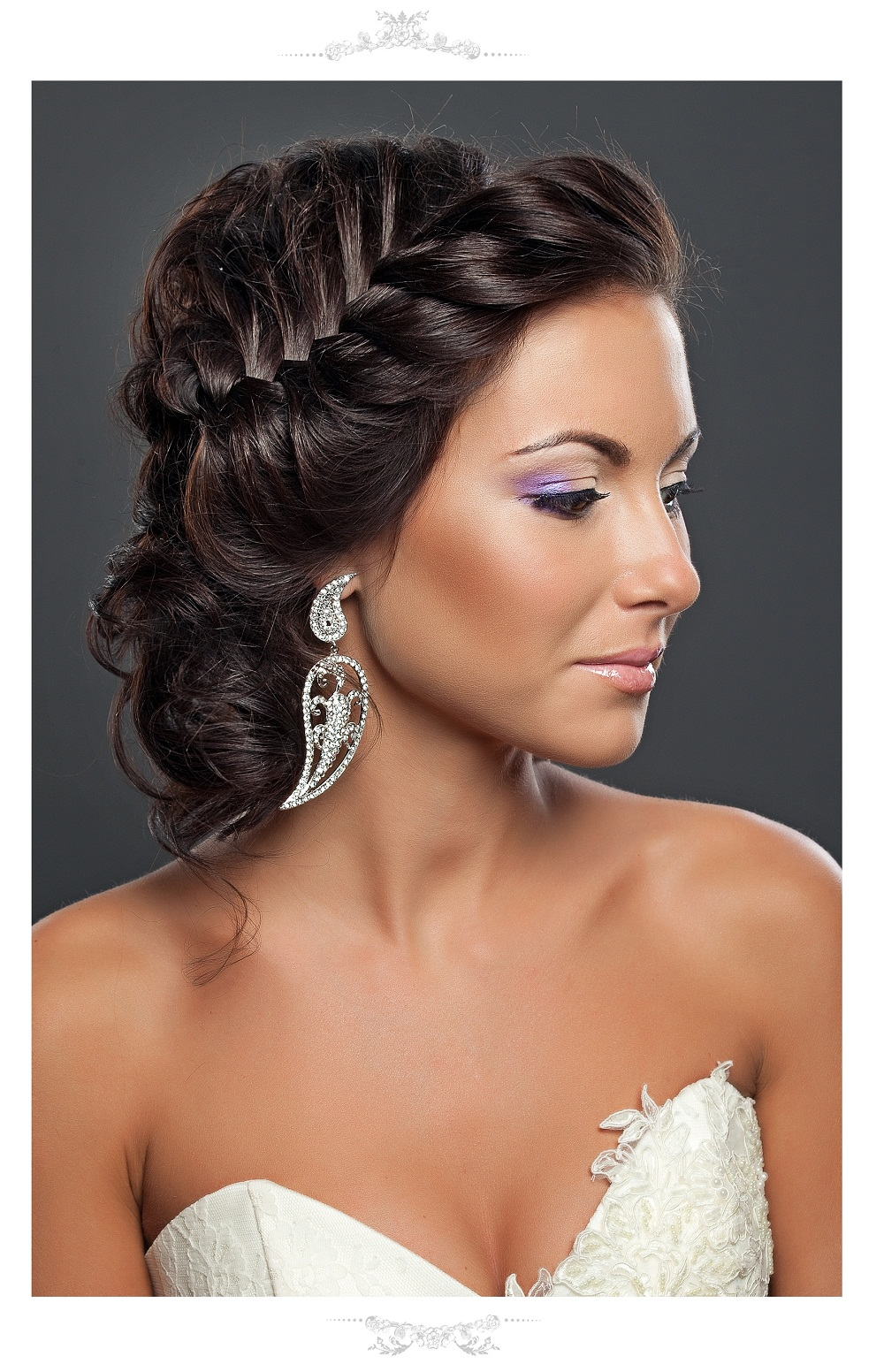 svadebnye-pricheski-na-volosy-do-plech-foto Прическа с косами на свадьбу