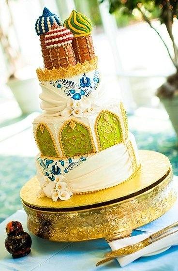 svadebnyj-tort-baranki Зимняя свадьба в русском народном стиле