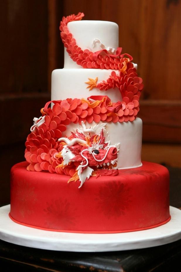 tort-drakon Свадьба в стиле красного дракона