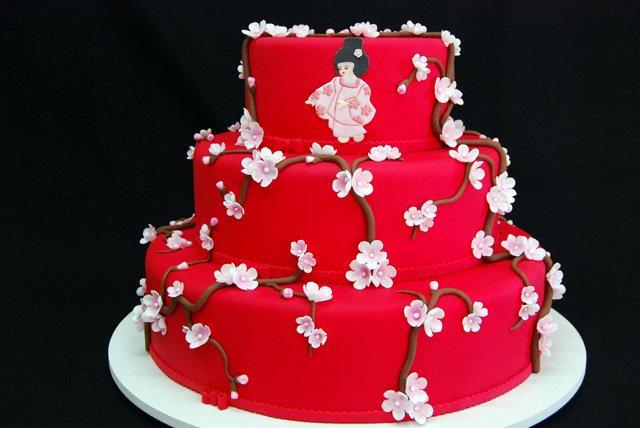 tort Свадьба с японской направленностью и мотивами