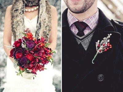 Модные зимние букеты: принцип выбора цветов на свадьбу, которые выдержат холод