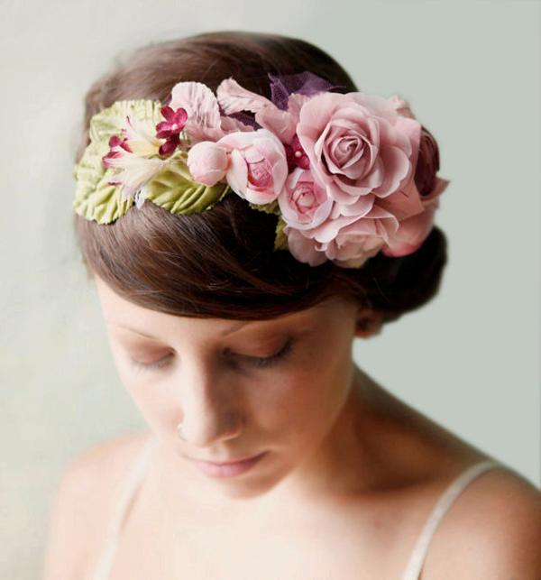 venok5 Свадебный веночек из искусственных цветов