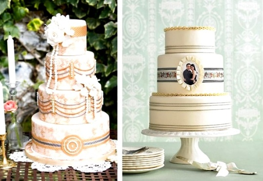 vintage-tort Винтаж в декоре свадебного стола