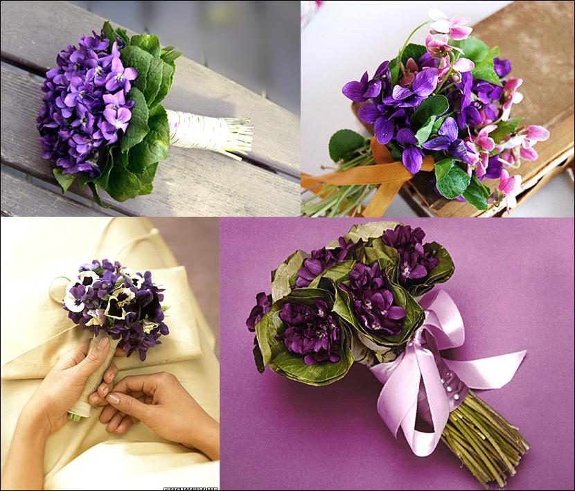 violets4 Свадебный букет в фиолетовых тонах