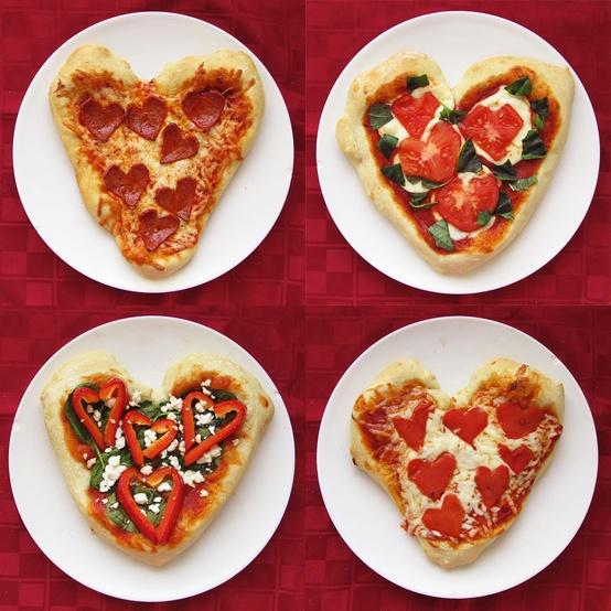 110-pratos-decorados-formato-coracao-Dia-dos-Namorados-108 Пицца на свадебном столе