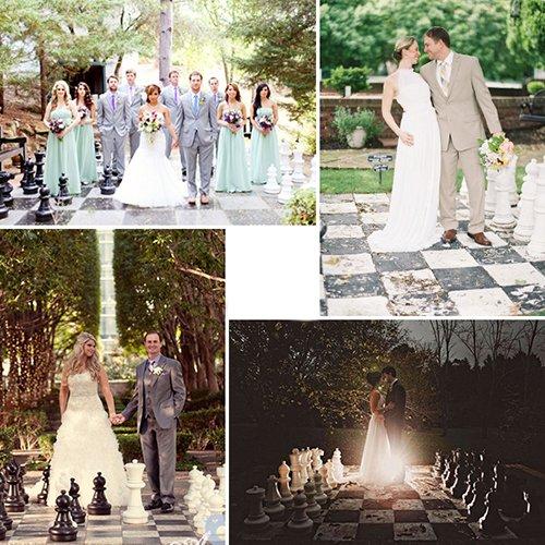 Свадьба в стиле шахмат: используем шахматную цветовую гамму в оформлении