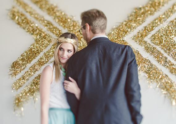 Мастер класс: золотая фотостена для свадьбы