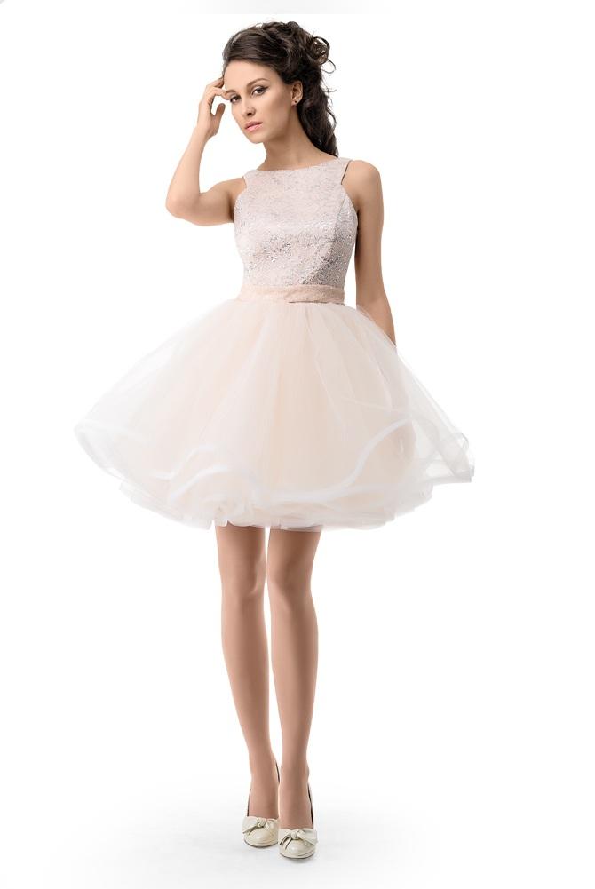 9595550 Короткие пышные свадебные платья
