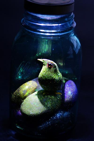 Мастер класс: блестящие птички в подарок гостям