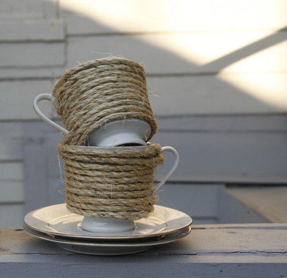 Мастер класс: чашки для свадьбы в стиле рустик