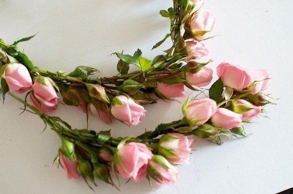 """dekor-serdtse-iz-roz-7 Мастер класс: """"Сердце из роз для декора свадьбы"""""""