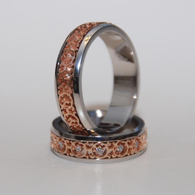 dvojnye Фотоподборка свадебных колец из серебра