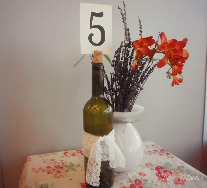 Мастер-класс: держатель номера стола из бутылки