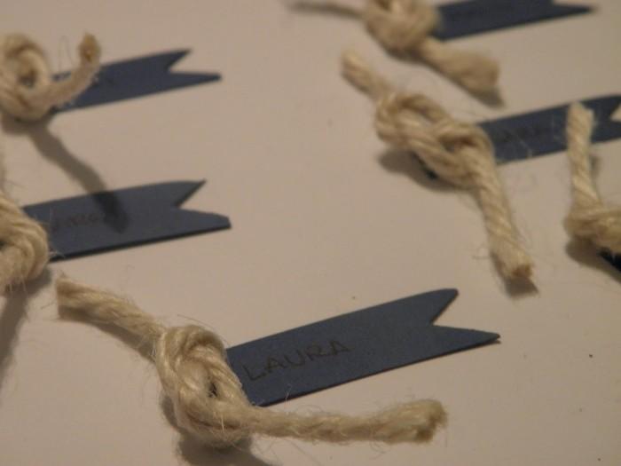 Мастер-класс: карточки рассадки в морском стиле