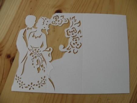 Сердечек надписями, шаблон объемной открытки к свадьбе