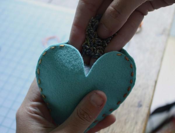 lavanda Мастер класс: подарки для гостей - ароматные сердечки