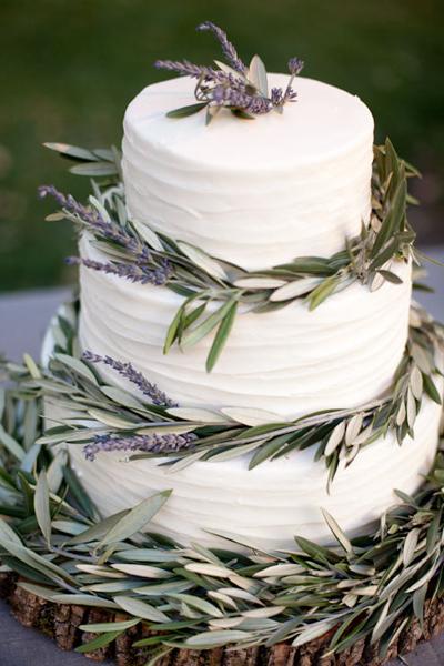 lavender_olive_branch_wedding_cake__0 Свадьба в итальянском стиле
