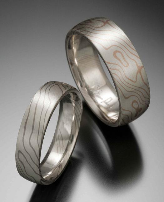 neobychnye Фотоподборка свадебных колец из серебра