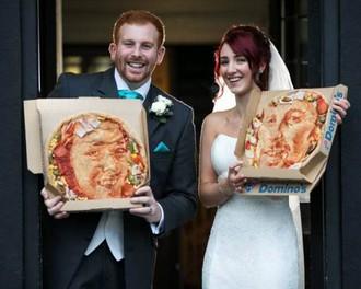 pizza Пицца на свадебном столе