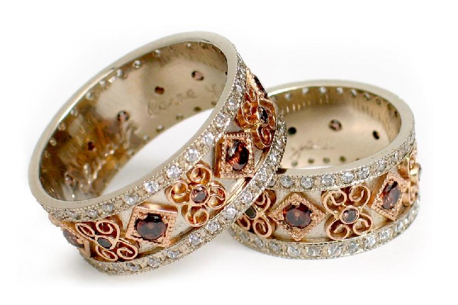 pozolochennye Фотоподборка свадебных колец из серебра