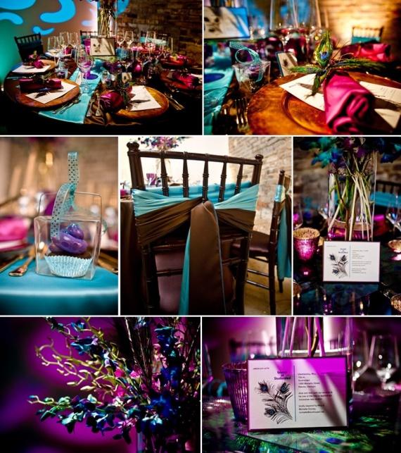 """preparatif-mariage-maurice-couleurs-img Свадьба в стиле """"павлиньи краски"""": аккуратно украшаем павлиньими перьями"""