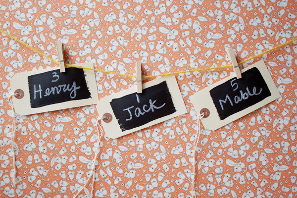 Мастер класс: простые карточки для рассадки гостей