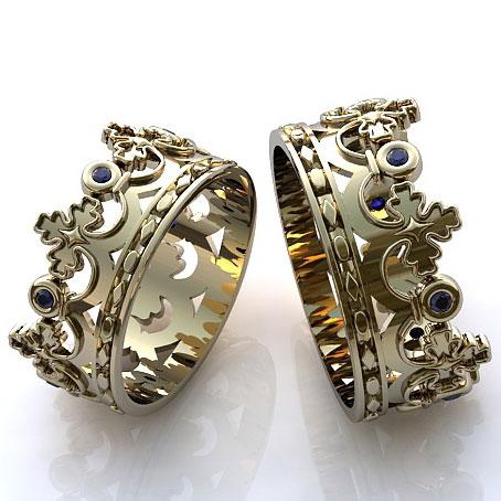 s-sapfirom Фотоподборка свадебных колец из серебра