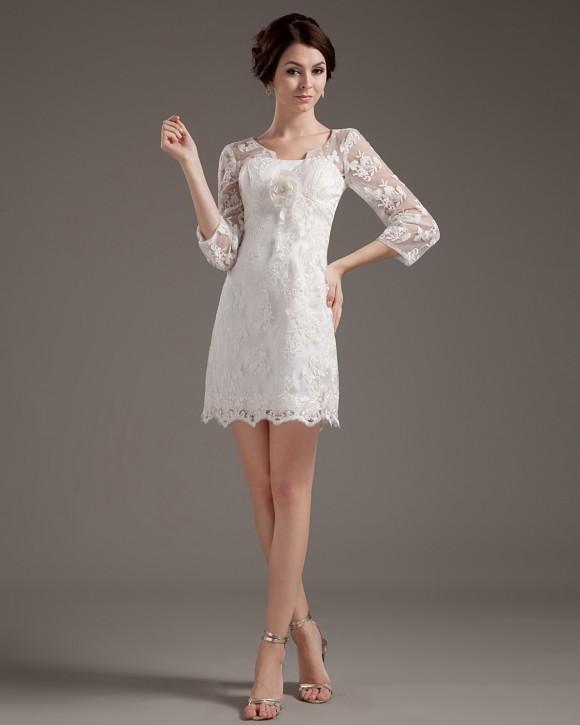 vay-cuoi-ngan Свадебные платья в стиле ретро